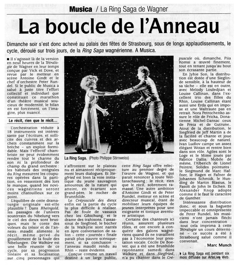 2011.10.04 : Ring Saga, Dernières Nouvelles d'Alsace