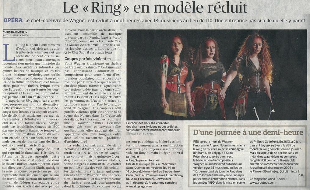 2011.10.06 : Ring Saga, Le Figaro