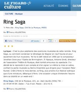 2011.10.06 : Ring Saga, Le Figaro.fr