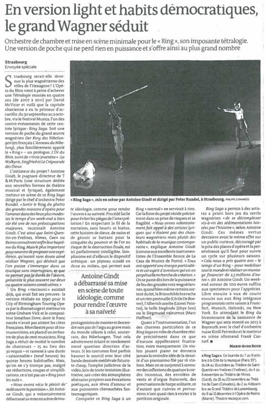 2011.10.07 : Ring Saga, Le Monde