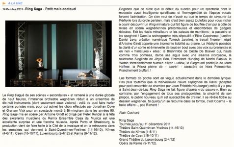 2011.10.14 : Ring Saga, Concertclassic